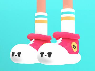 Shoes c4d cinema4d 3d illustration 3d art 3d characterdesign shoes