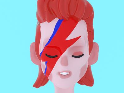 Bowie inspiration creative 3d illustration portrait cinema4d 3d art 3d music