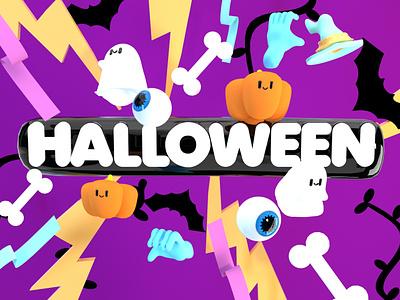Halloween inspiration art 3d artist creative illustration cinema 4d 3d illustration 3d art 3d halloween design halloween party halloween 3d halloween illustration halloween