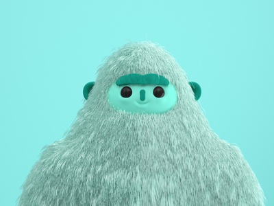 Yeti creative inspiration character design 3d design 3d inspiration 3d 3d art art monster yeti