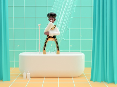 Sing in the Shower illustration art music art creative music singer singing sing