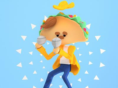 Tacos inspiration 3d art 3d creative food illustration food art foodie food tacos taco