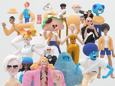 3D Characters cinema4d c4d design 3d art creative 3d 3d illustration illustration