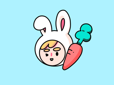 Bunny Boy cute adorable carrot illustration carrot icon illustration icon illustration bunny illustration rabbit illustration bunny boy rabbit bunny