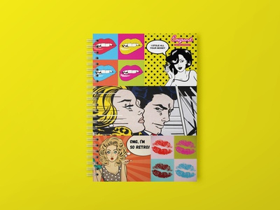 Pop Art notebook design