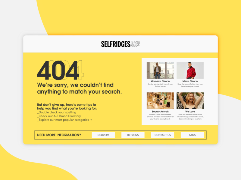 Daily UI 008 :: 404 Page