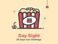 Spider Popcorn - Icon challenge
