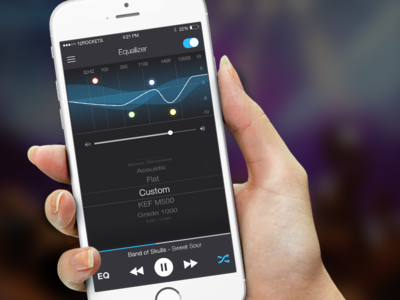 Music Player Remote App - equalizer screen