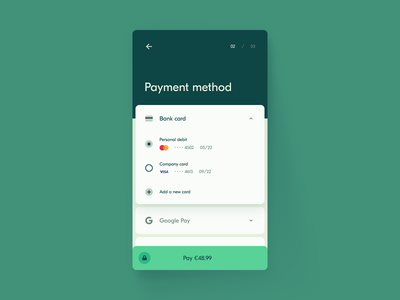 Daily UI 002 — Credit Card Checkout ecommerce payment checkout 002 ui ux minimalism mobile challenge daily ui