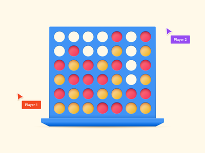 Multiplayer Connect Four in Figma board game connect four multiplayer game figma