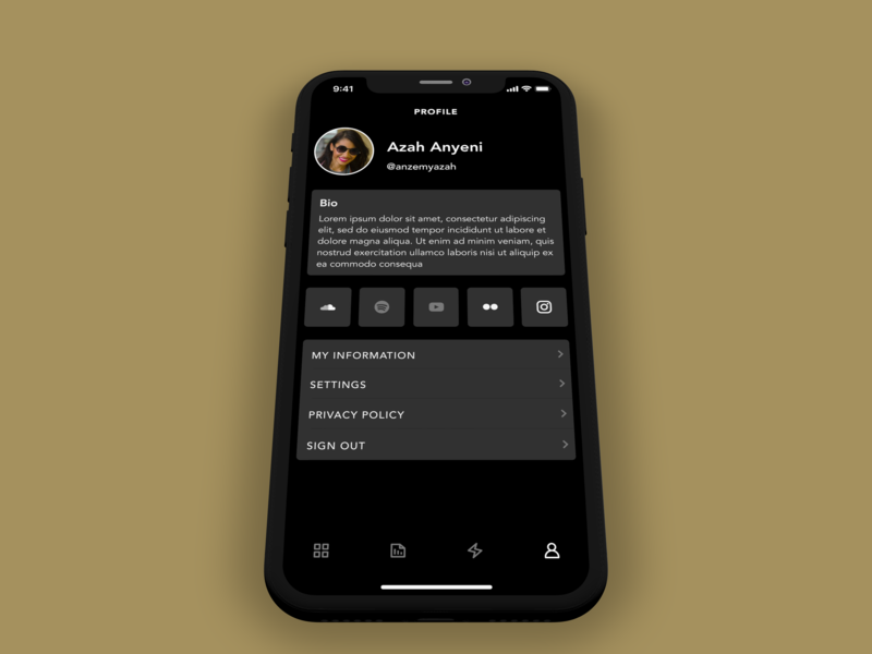 Artist Connect concept app ios android ui ux mobile app react native