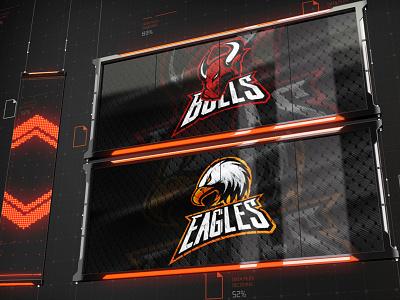 Cybersport Broadcast ui template ufc logo hockey mascot cs go dota game sport