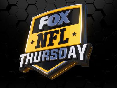 Fox NLF Thursday Logo 3d broadcast gameday game logo mascot badge football nba nhl nfl fox sport