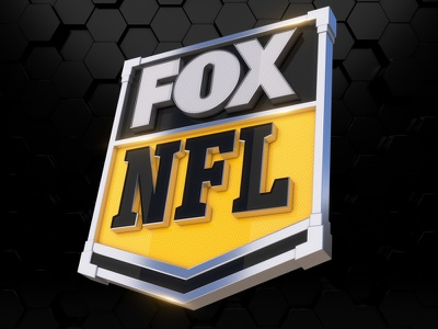 FOX NFL Logo badge 3d gameday football game mascot logo logotype broadcast nba nhl nfl fox fox sports