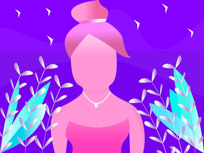 Girl mobile lettering type ios identity character website minimal icon animation web logo flat typography brand art illustrator design vector illustration