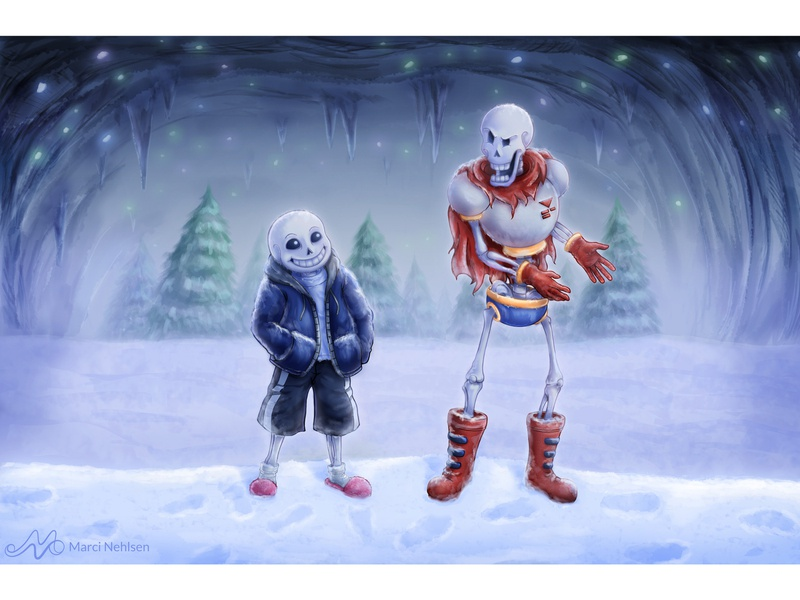Undertale - You Lazybones! papyrus sans fanart video games undertale illustration