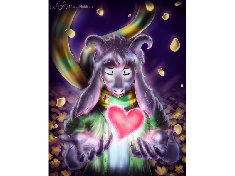 Undertale - Your Best Friend asriel fanart video games undertale illustration