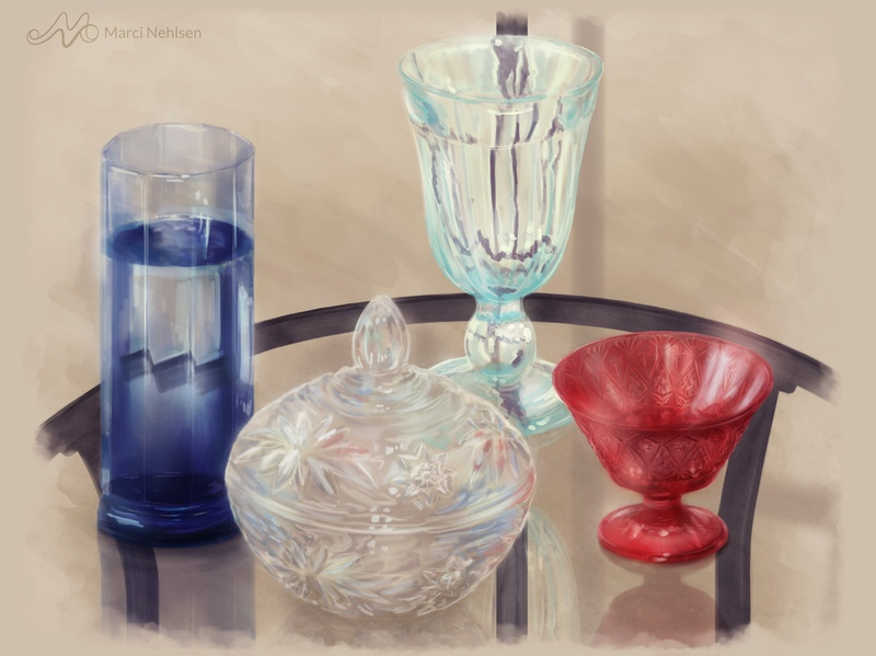 Colorful Glass glass art still life illustration