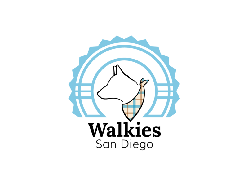 Logo Design - Walkies San Diego walkies san diego dog identity brand vector design logo