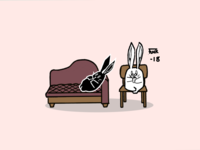 Therapy rabbits