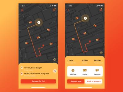 UI for a taxi app