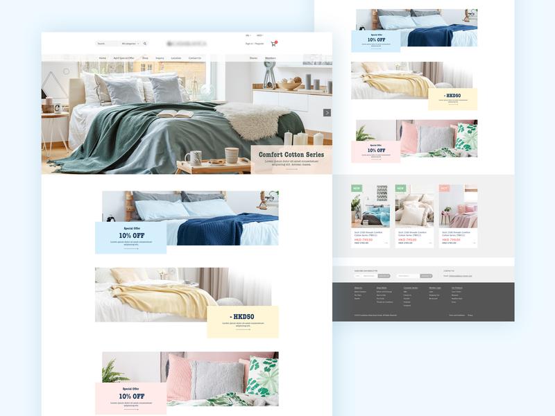 bedding eshop web  design eshop ecommerce