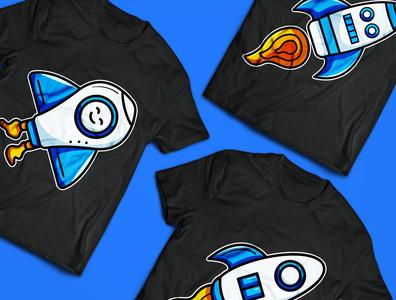 Rocket illustration for t-shirt design