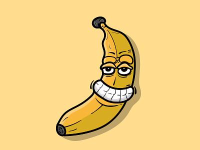 Banana Cartoon Character icon colorful 2d character cartoon art vector charactedesign cartoon character illustration design