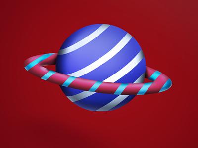 Saturn Lollipop icon saturn colorful adobe photoshop digital painting art illustration design