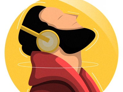 Listen the music and relax drawing adobe illustrator flat illustration website illustration ui colorful 2d character cartoon character cartoon adobe photoshop digital painting art illustration design