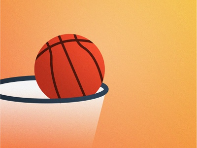 Basketball Illustration website illustration flat design adobe illustrator drawing colorful 2d character cartoon digital painting adobe photoshop art design illustration