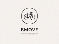 Bmove Dribbble Shot logo bulgaria shop web design uidesign marios pittas vision dark brown branding antique bike logo bicycle bike
