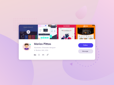 Profile Card ui mariospittas card profile card css grid