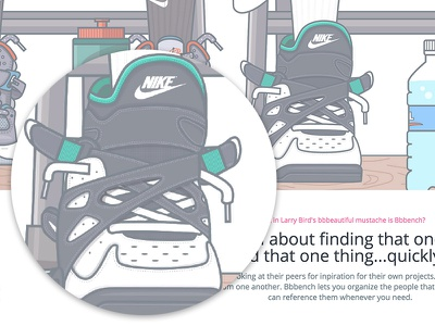 Bbbench Hero - Nike Air Unlimited's illustration hero nike unlimited shoe nike basketball shoes basketball waterbottle shoelaces