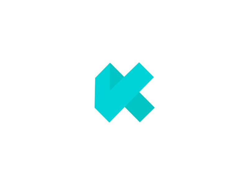 Geometric K k logo k icon letter k k