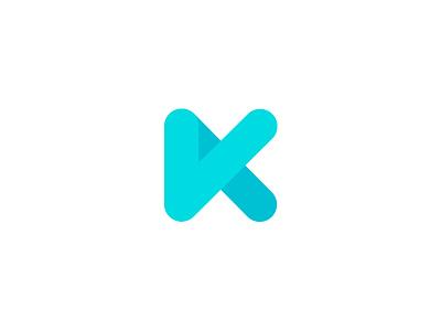 Rounded K k logo