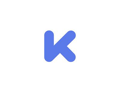 Rounded K - Flat icon logo k