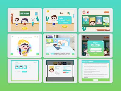 Wisekids - AR Storytelling Application design illustration app ux ui