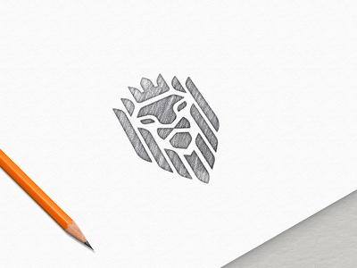 Buy : Sketch Effect Logo Mockup graphic templates free buy photoshop lion sketch psd logodesign template mockup logo