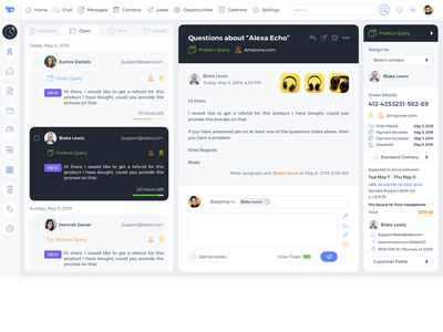 Dino Dashboard Ecommerce Sales and Support CRM UI 3 design navigation payment icon sketch ux ui crm crm portal sales ecommerce