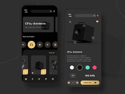 Electronic Market Mobile UI app screens