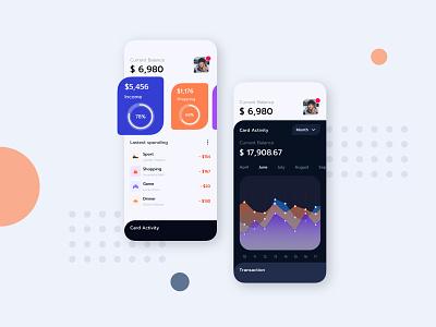 Finace App Mobile UI Basic fintech