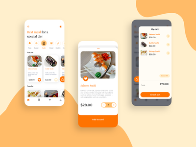 Food And Deliverry UI Basic icon vector design scrypt kit sketch mobile app ux ui