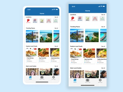 UI design for a Travel App