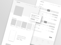 Frontier Airlines Redesign - Wireframes