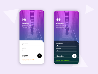 Sign In / Sign Up Form - Daily UI #001 sign in signup mobile ui daily ui firstshot ui dayliui