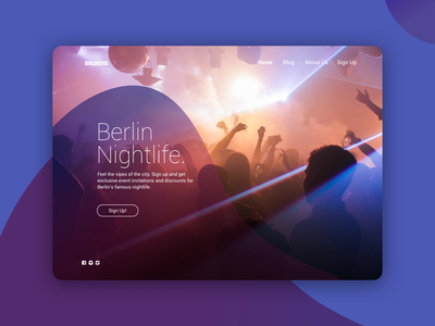 Landing Page - Daily UI #003 daily 100 challenge nightlife nightclub ui landing page design landingpage dailyui