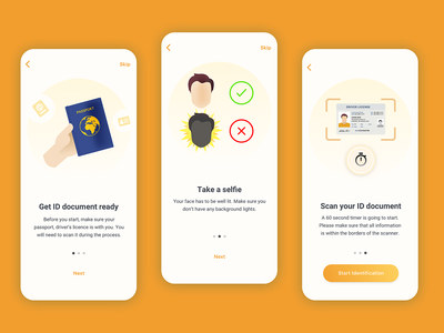 Onboarding Screens - Identity Verification App onboarding ui guided tour clean ui mobile design onboarding onboarding screens ui  ux uiux ui