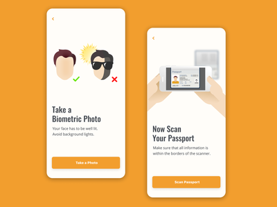 KYC Intro Screens mobile design clean ui ux ui identity kyc introduction onboarding mobile ui