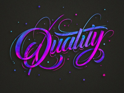 Quality type design calligraphic design colors photoshop brush calligraffiti calligraphy lettering